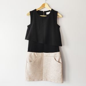 3.1 Phillip Lim shift dress w/ pockets black/cream